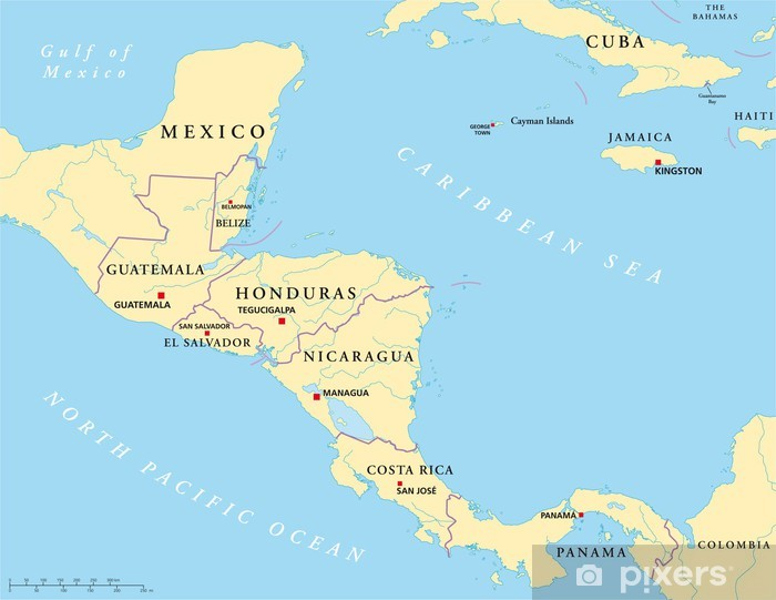 Mittelamerika Landkarte Wall Mural Pixers We Live To Change