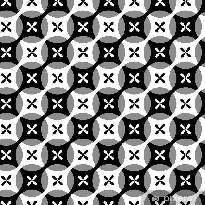 Poster Nahtlose Schwarzweiss-Muster - Hintergründe