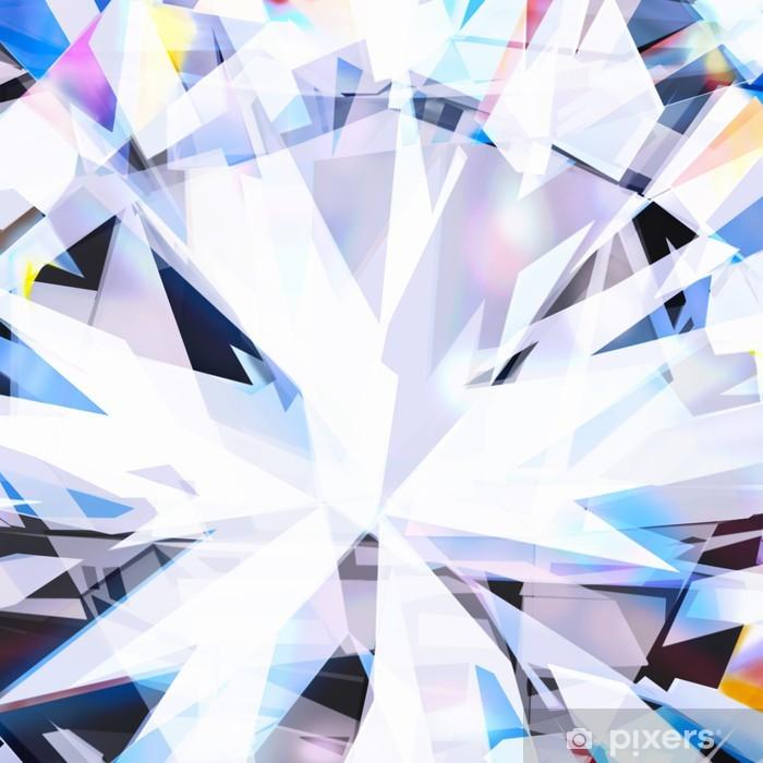 Sticker Pixerstick Résumé de fond, près de diamant taille brillant - Mode