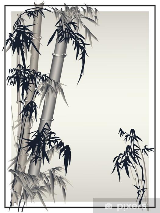 Nálepka Pixerstick Bambus vektor v tradičním asijském stylu - Pozadí