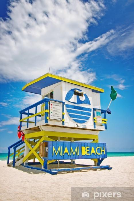 Fototapeta winylowa Dom ratownik w Miami Beach, Floryda, USA - Ameryka