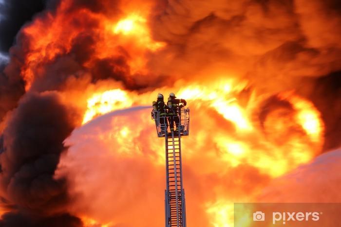 Pixerstick Sticker Vuur vlammen geleden - Beroepen