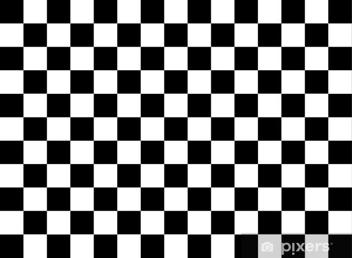 Fototapeta winylowa Flaga z szachownicą - iStaging