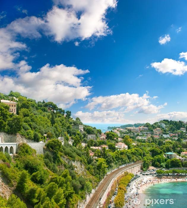 Papier peint vinyle Voir d'hôtel de luxe et de la baie, Côte d'Azur - Europe