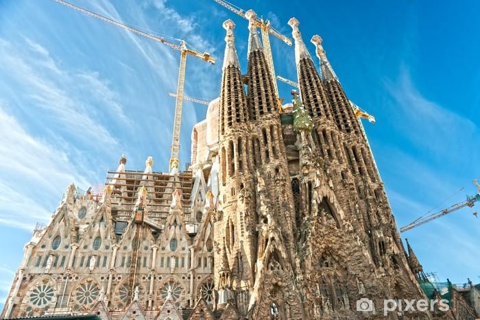 Papier peint vinyle La Sagrada Familia, Barcelone, Espagne. - Thèmes