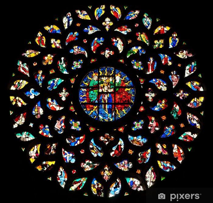 Fototapeta winylowa Okno rozeta Santa Maria del Mar, Barcelona. - Miasta europejskie