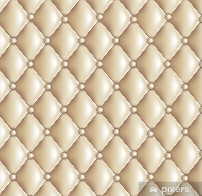 Pixerstick Sticker Fond capitonné beige - Succes en Prestatie