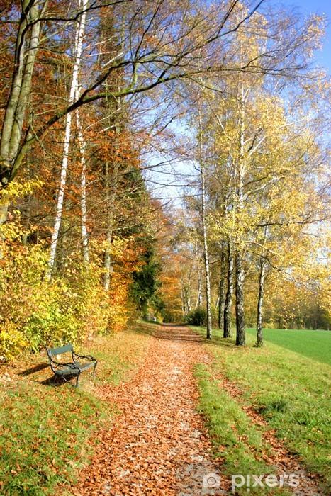 Herbstweg Pixerstick Sticker -
