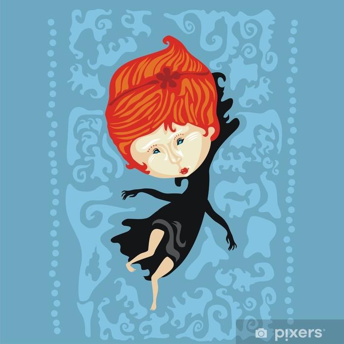 Poster Fille de la mer Piscine - Destin