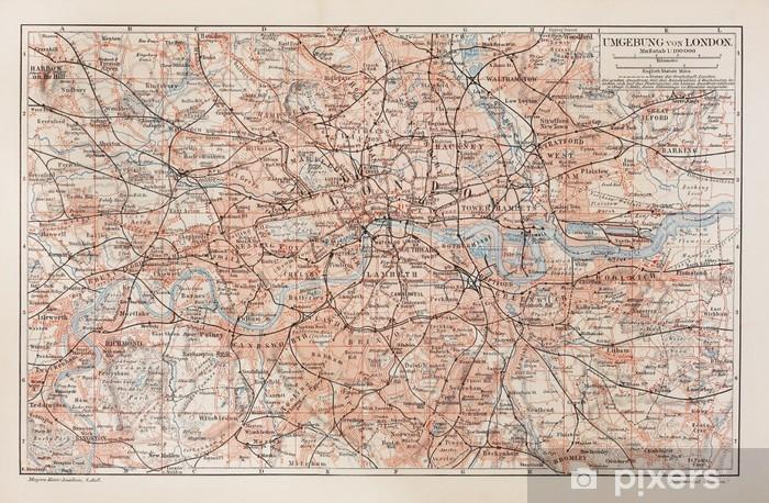 Vintage Kartta Lontoo Ja Ymparisto Tapetti Pixers Elamme
