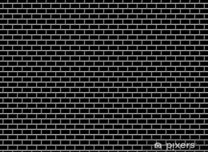 Vinyl Fotobehang Subway Tile-Black - Het Leven