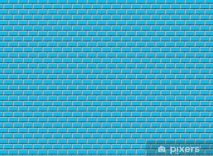 Fotobehang Subway Tile Blue Pixers
