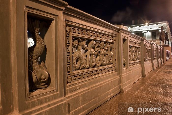 Vinylová fototapeta Noční pohled na horizontální Aničkovův most, Rusko - Vinylová fototapeta
