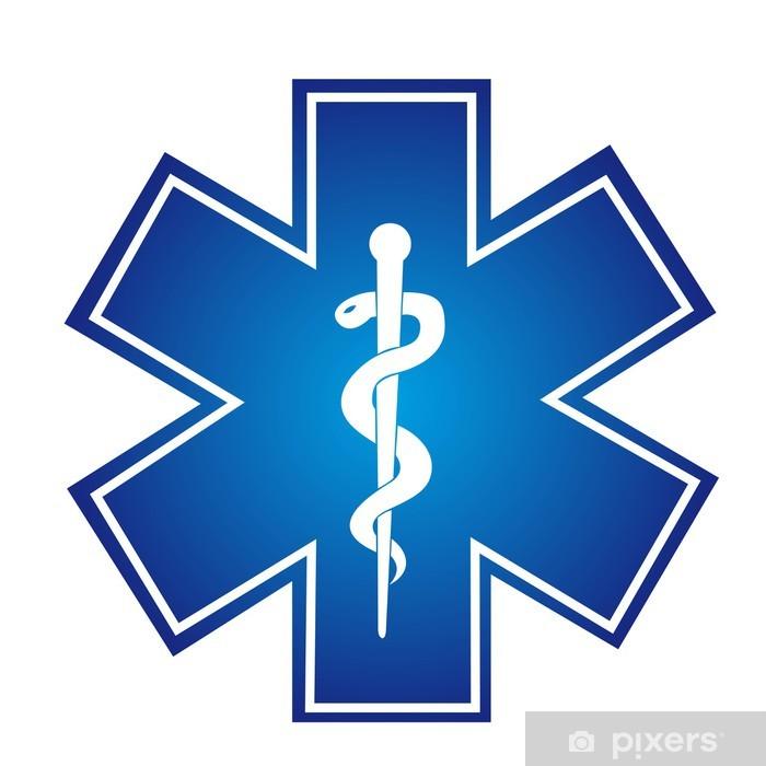 Naklejka Pixerstick Znak medyczny - Zdrowie i medycyna