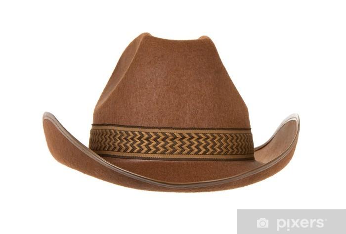 Fototapeta winylowa Kowbojski kapelusz na białym tle - Moda