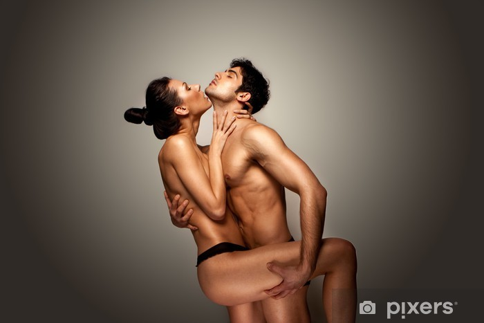 Pixerstick Sticker Passionate Naked Couple - Koppels