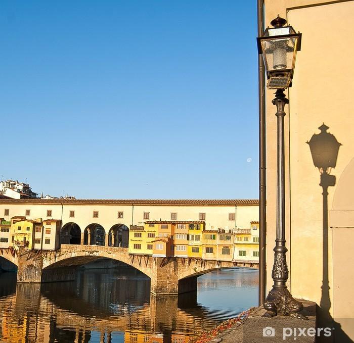 Plakat Ponte Vecchio we Florencji, Włochy - Florencja, Włochy - Europa