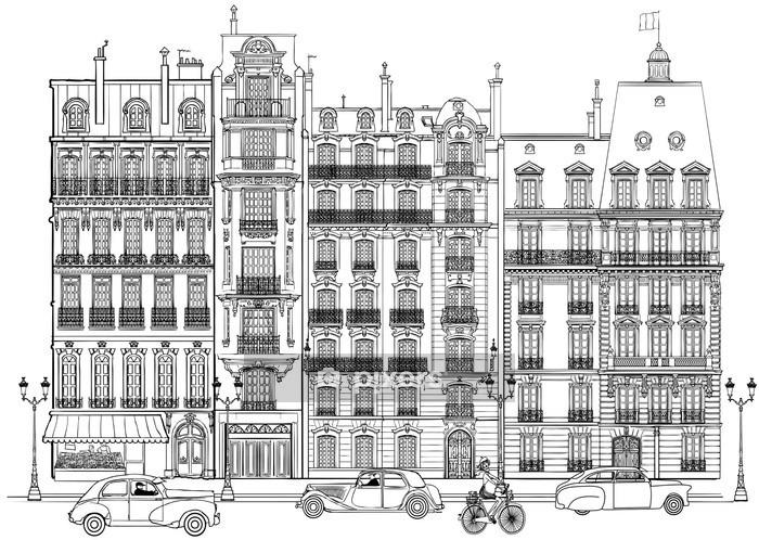 Adesivo da Parete Parigi - Facciate - Adesivo da parete