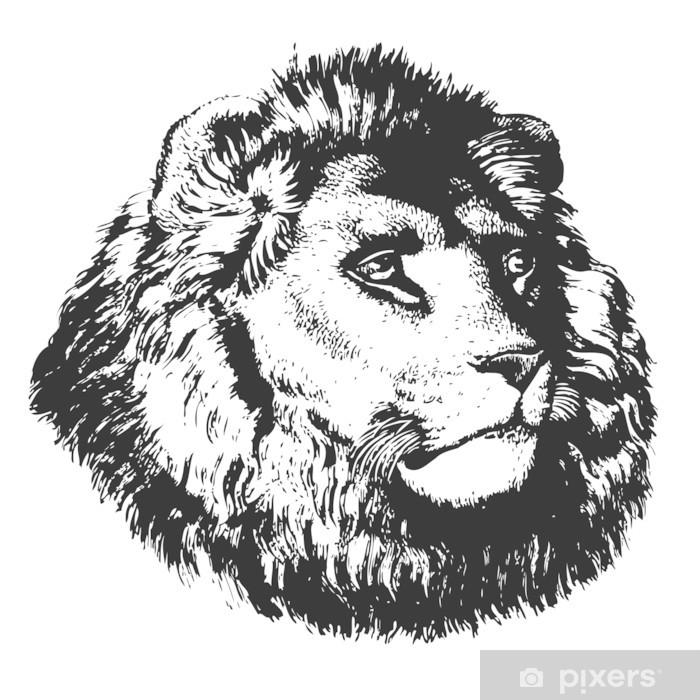 Nálepka Pixerstick Lví hlavy - Savci