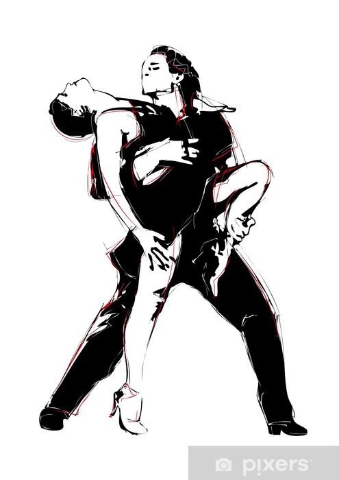Fotomural Estándar Baile latino - Artes y creación