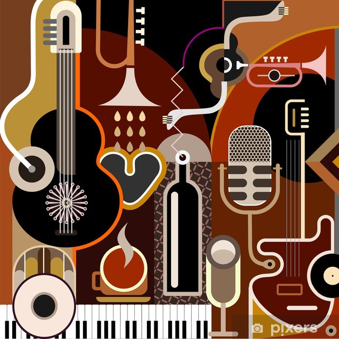 Abstract Music Background Poster - Themes