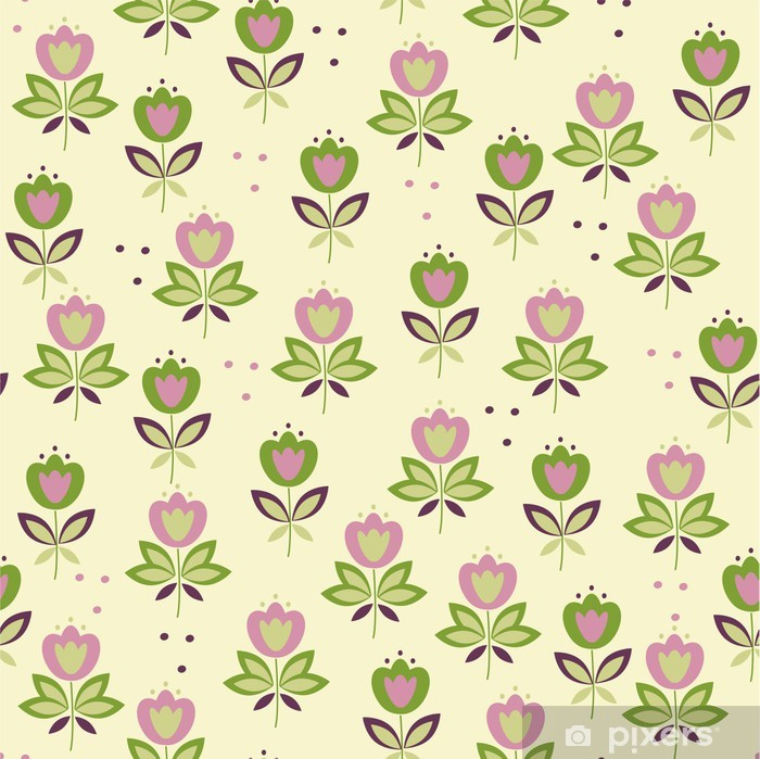 Colorful baby floral seamless patten Poster - Backgrounds