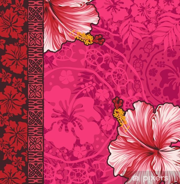 Papier peint vinyle Hibiscus fond d'écran - Océanie