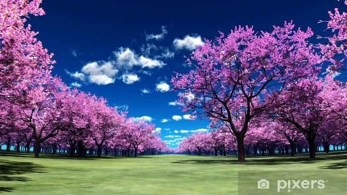 Naklejka Pixerstick Cherry Blossoms - Lasy