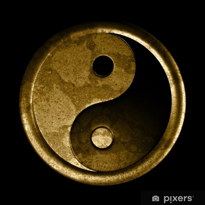 Fototapeta winylowa Yin i yang symbol - efekt grunge - Religie