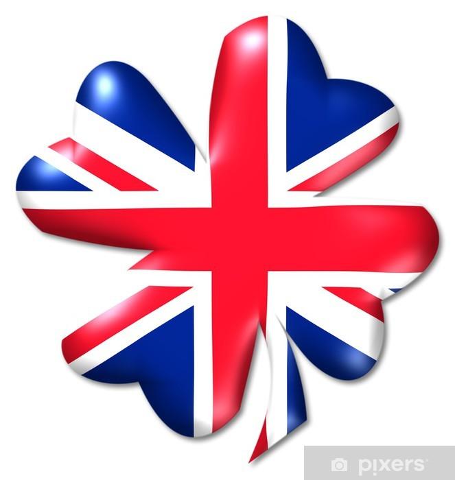 Naklejka Pixerstick Kleeblatt uk koniczyny Wielka Brytania - Szczęście