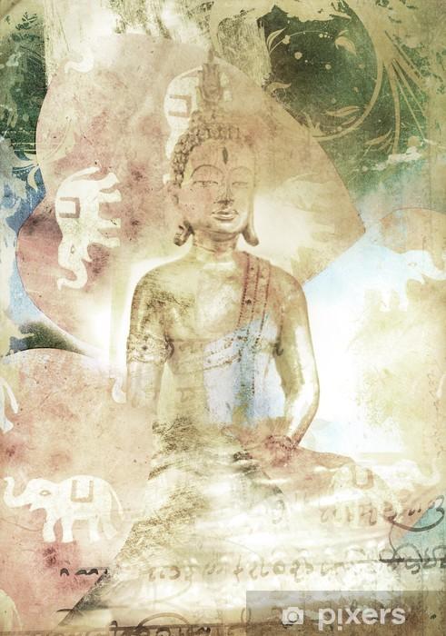 Papier peint vinyle Bouddha statue - Bouddhisme