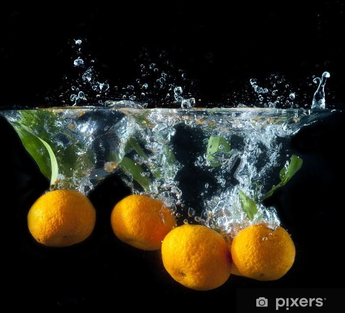 Orange splash Pixerstick Sticker - Fruit