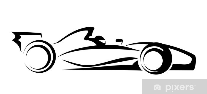 Sticker Pixerstick Formule 1 - Sticker mural