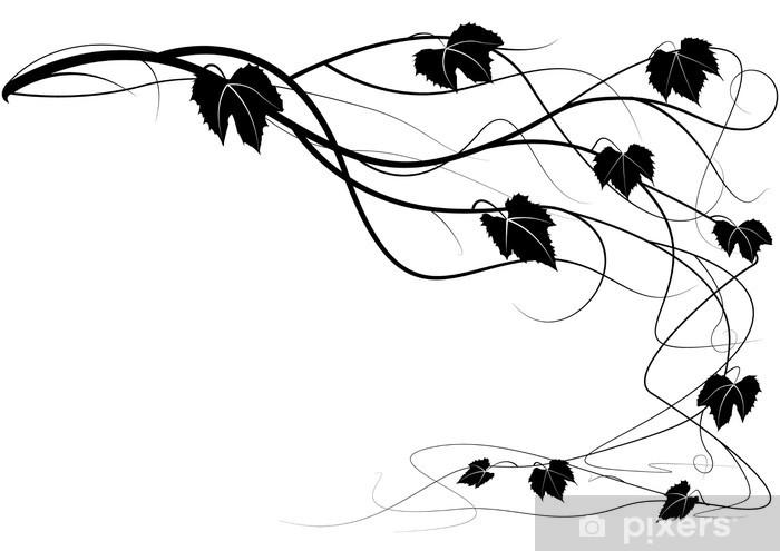Nálepka Pixerstick Dekorační prvek liána vinné větve - Nálepka na stěny