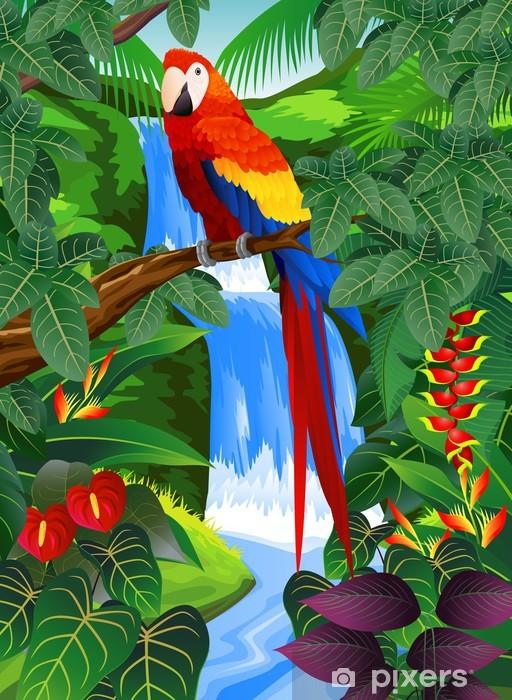 Naklejka Pixerstick Ptak tropikalny - Tematy