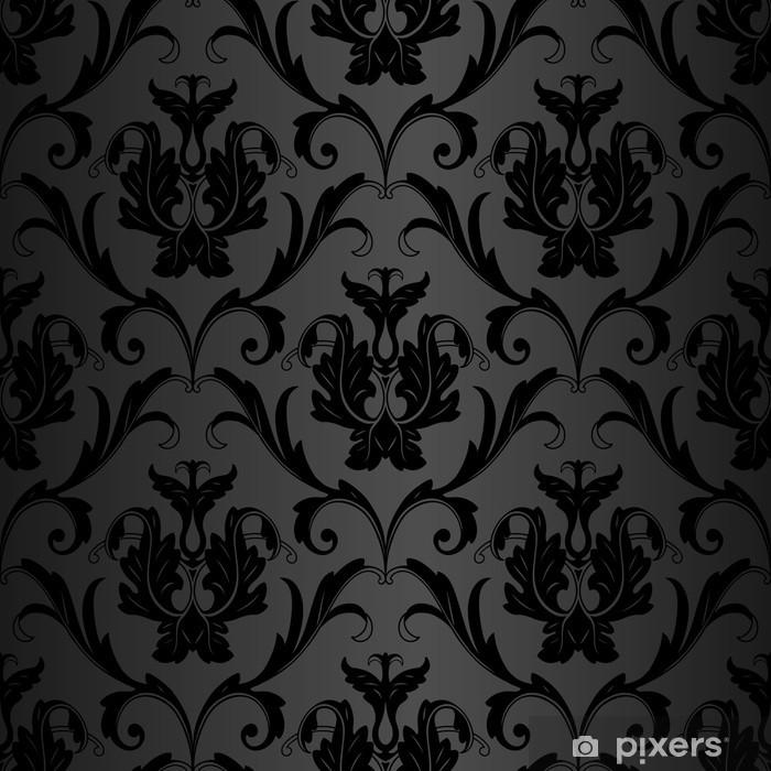 Fotomural Estándar Seamless wallpaper negro - Temas