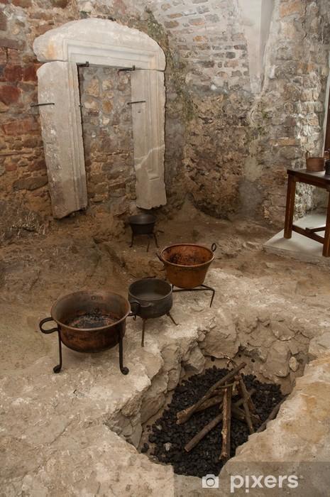 Carta da Parati in Vinile Cucina antica sala