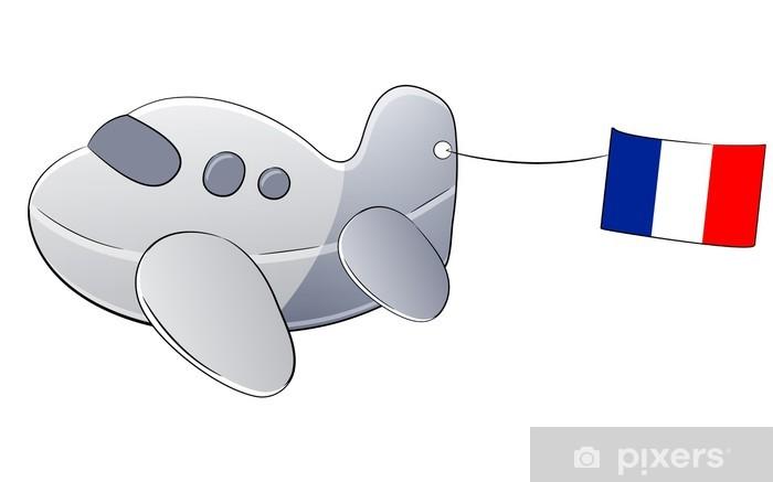 Carta da parati aereo cartone animato isolato su bianco con la