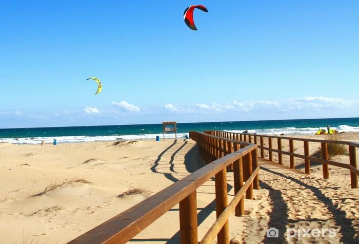 Fototapeta winylowa Playa Arenales Alicante y kitesurfingu - Sporty wodne