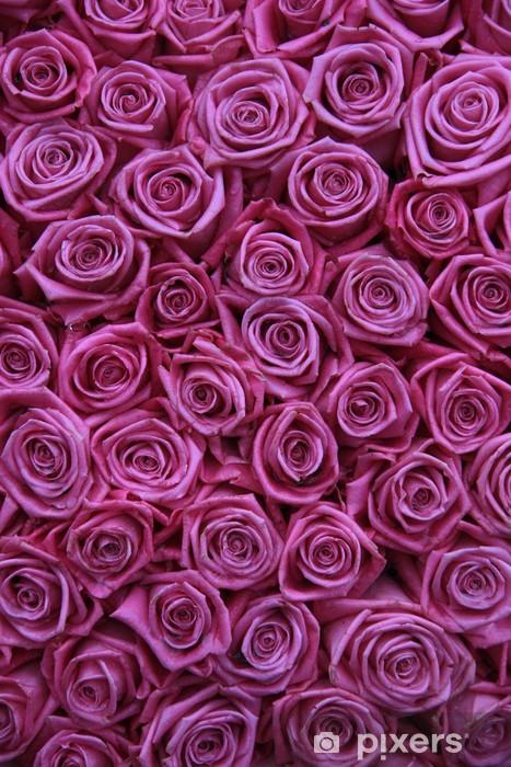 Sticker Pixerstick Groupe de roses roses - Thèmes