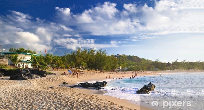 Vinyl-Fototapete Resort an der Westküste von La Réunion. - Urlaub