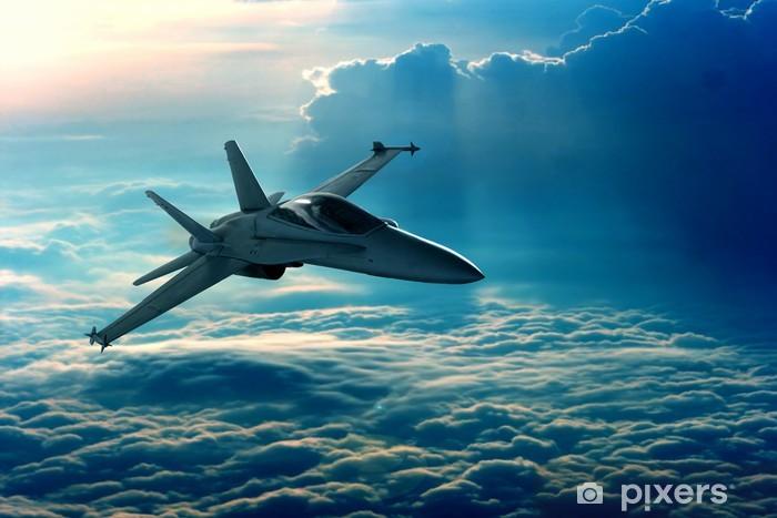 Afwasbaar Fotobehang Jachtvliegtuig - Thema's