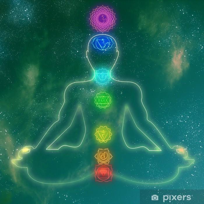 Papier peint vinyle Système de chakra humain - Thèmes