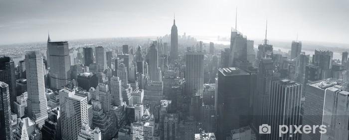 Papier Peint Autocollant New York City skyline noir et blanc - Thèmes