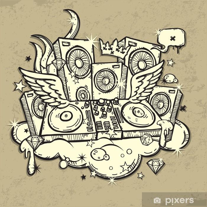 Pixerstick Dekor DJ ande - Hio hop