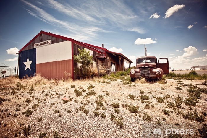 Abandoned restaraunt on route 66 road in USA Self-Adhesive Wall Mural - Themes
