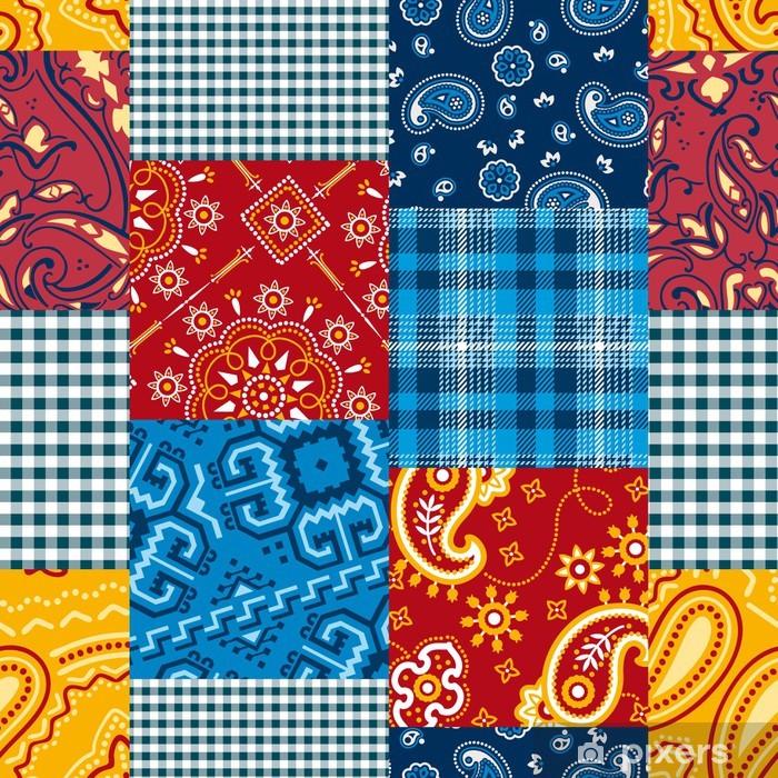 Pixerstick Aufkleber Bandanna Flickenteppich seamless pattern - Fashion