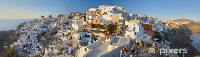 Auringonlasku oia kylässä, santorini saari, kreikka Vinyyli valokuvatapetti - Eurooppa