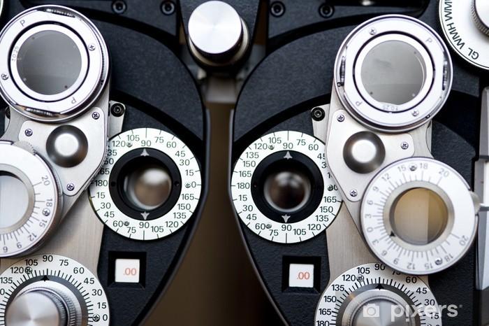 Vinyl-Fototapete Detail der Optometrist Dioptrien. - Gesundheit & Medizin