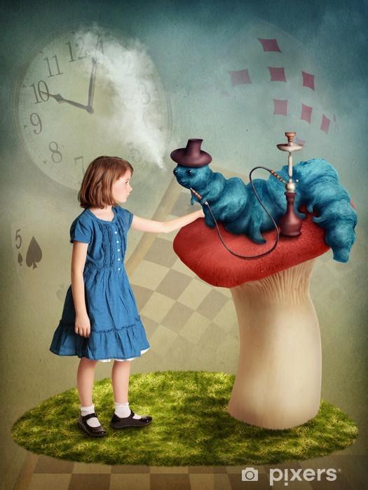 Papier peint vinyle Alice et Caterpillar - Thèmes